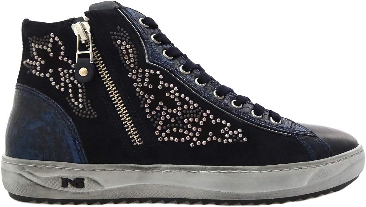 Scarpe sneaker Nero Giardini ragazza A830622F//139 dal 27-34 blu listino € 89,50