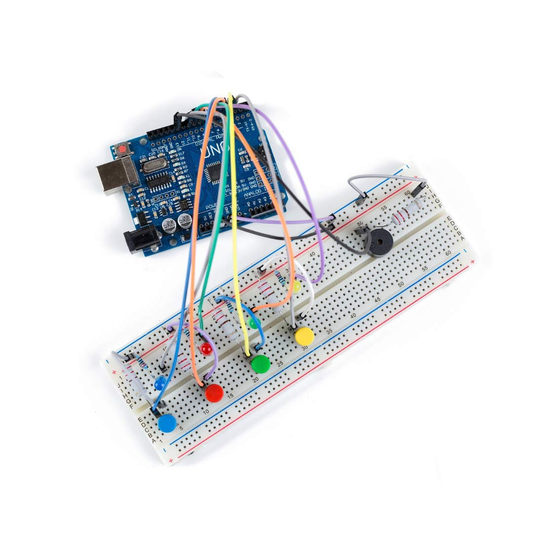 Coding Electronics Kit   Learn to Code A Memory Game   Coding Kit Includes Online Course, Arduino UNO R3, & All Needed Electronic Components   Learn Coding, Circuits, and Electronics   Ages 12+  