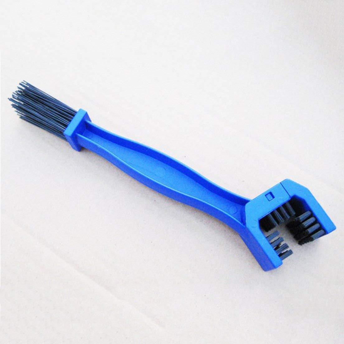 Couleur: Bleu DF-FR Cha/îne de Bicyclette /à v/élo /à 3 c/ôt/és Nettoyer loutil de r/écurage pour Nettoyer Les engins de Nettoyage de Grunge de Brosse /à Engrenages