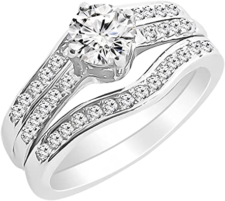 Triple Solitaire Ring Cubic Zirconia Gemstone 925 Sterling Silver Gold Filled