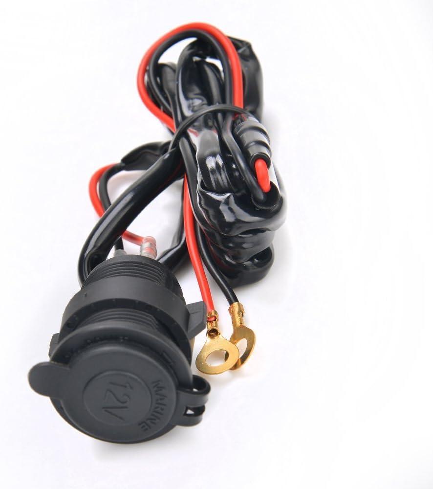 ATV 12 V 4,2 A JVSISM con display di tensione a LED Presa accendisigari impermeabile doppia USB per moto scooter