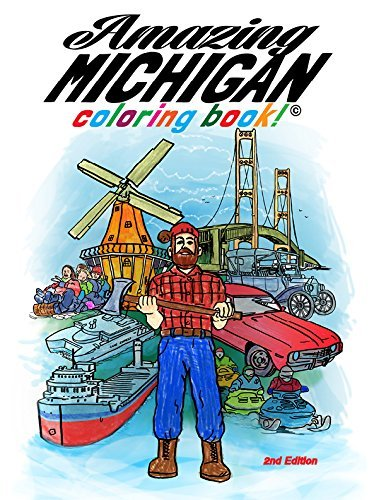 Read Online Amazing Michigan Coloring Book pdf