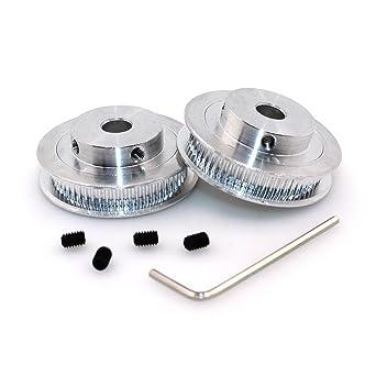 Rueda sincrónica GT2 de 60 dientes con polea de 5 mm hecha en aluminio para impresora