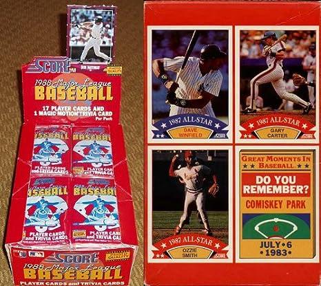 1988 Score Baseball Cards Unopened Wax Box Toy At Amazons