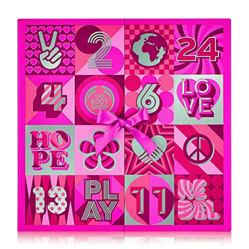 (The Body Shop Deluxe Advent Calendar, 24pc Gift Set of Feel-Good, Cruelty-Free, 100% Vegetarian Skincare, Body Care and Makeup Treats)