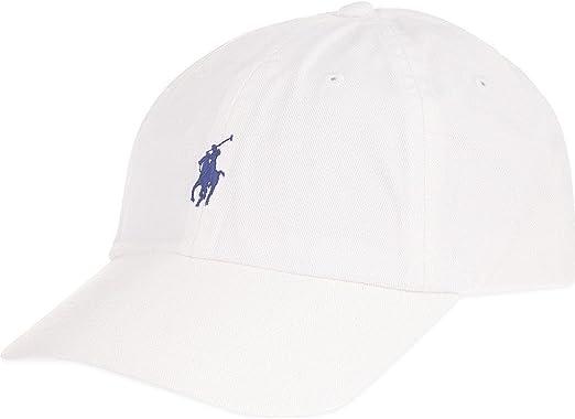 Gorra de béisbol color blanco de Polo by Ralph Lauren : Amazon.es ...
