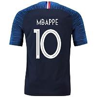 GESUNDHOME Maillot de Foot Homme Mbappé France 2018 2 Étoiles T-Shirt et Short -Taille S M L XL