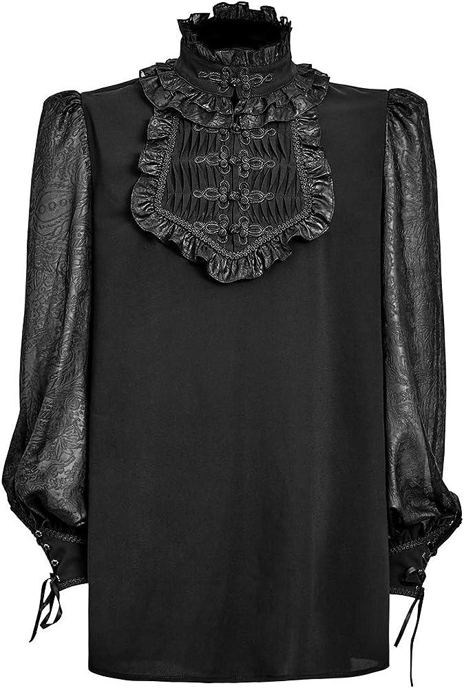 Punk Rave Camisa para Hombre Top Gothic Steampunk VTG Regency Aristocrat Victorian: Amazon.es: Ropa y accesorios