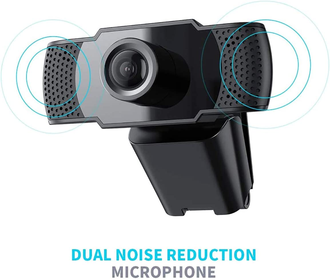 Aode 1080p Webcam with Microphone for PC Windows 10 Mac Compatible Webcam Desktop Camera and Speakers Computer Camera for Zoom Business/30fps Webcam with Rotatable Clip