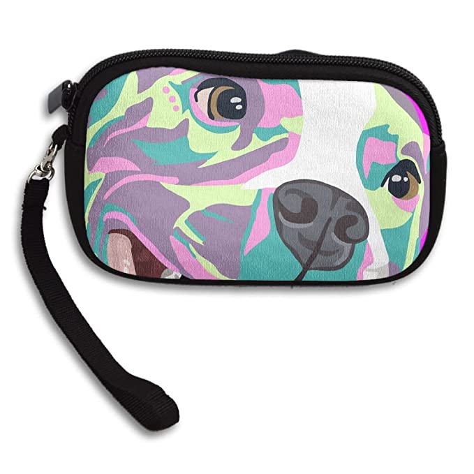 Womens Small Wallet Pit Bull Dog Drawing Zipper Card Purse Phone Case  Holder Wallets With Chain d63d2e34c4