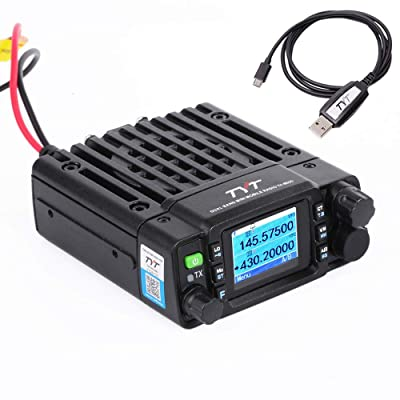 TYT TH-8600 Mini 25 Watt Dual Band Base, IP67 Waterproof Radio VHF: 136-174mhz (2m) UHF:400-480mhz (70cm) Amateur Car Mobile Transceiver (HAM) Free Cable: Electronics