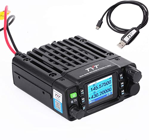 TYT TH-8600 Mini 25 Watt Dual Band Base, IP67 Waterproof Radio VHF 144-148mhz 2m UHF 420-450mhz 70cm Amateur Car Mobile Transceiver HAM Free Cable