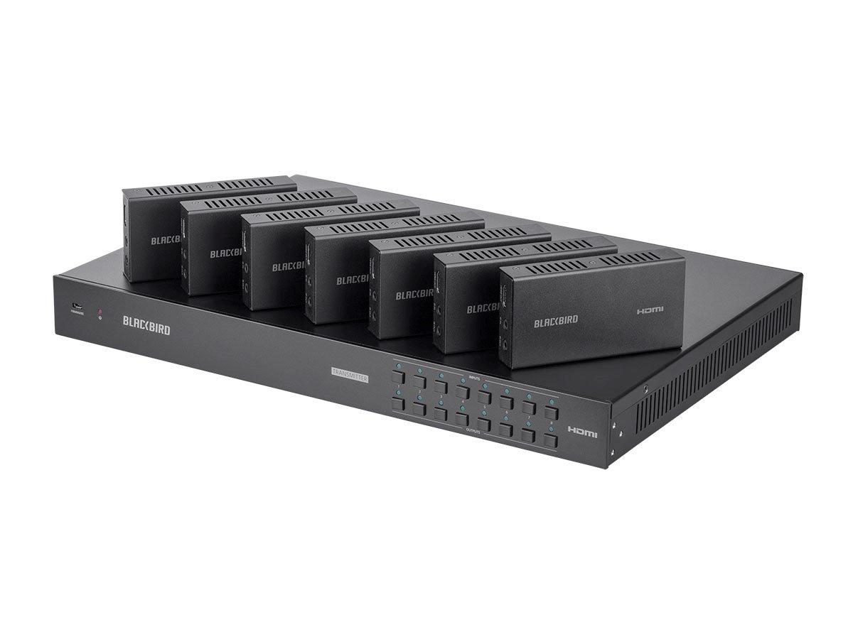 Monoprice Blackbird 4K 8x8 HDBaseT Matrix with 7 Receivers, 70m, IR, SPDIF, RCA, TCP/IP, RS232, EDID, HDCP 2.2