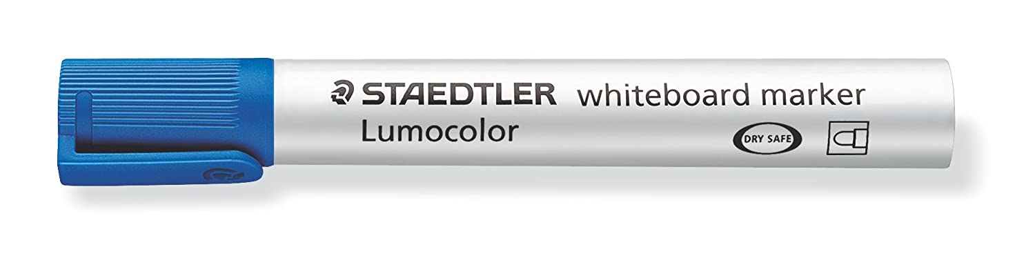 Multicolour STAEDTLER 351 WP4 Lumocolour Whiteboard Marker with Bullet Tip Pack of 4