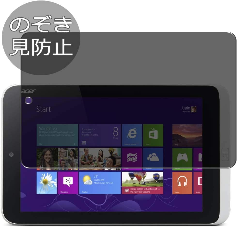 Synvy Privacy Screen Protector Film for Acer ICONIA W3-810 8.1