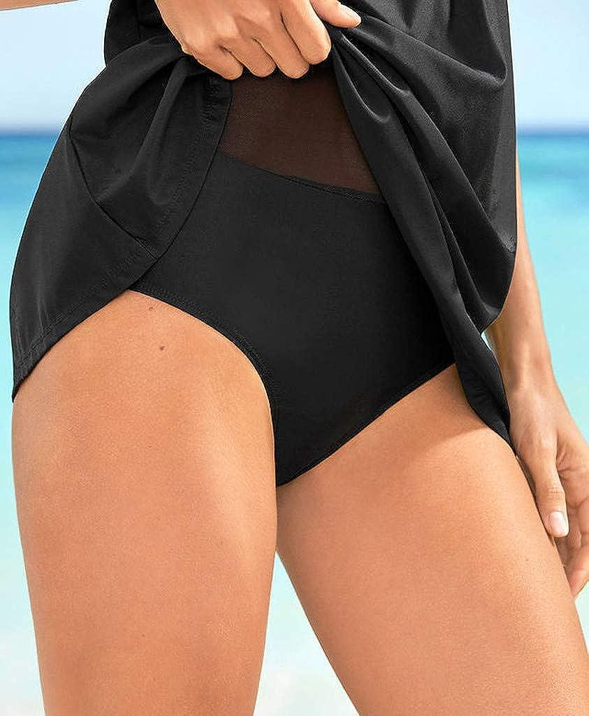 RAISINGTOP Womens Plus Size Swimsuits Swimwear Tankini Swimdress Beachwear Top Monokini Skirt Bikini Set Push Up