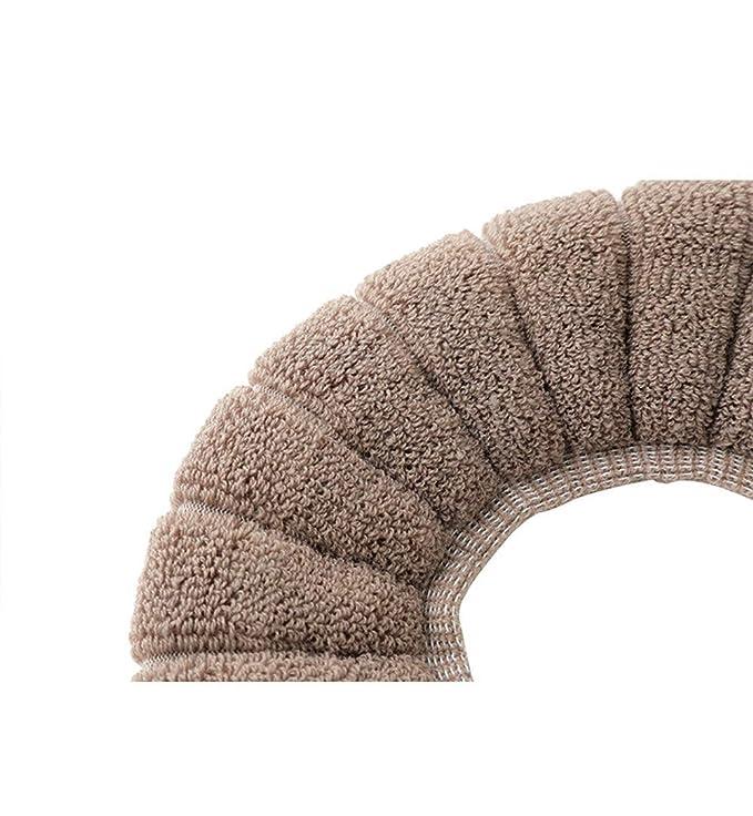 Lavable En Lavadora Almohadillas para el Asiento del Inodoro en Toalla Lavable y El/ástica