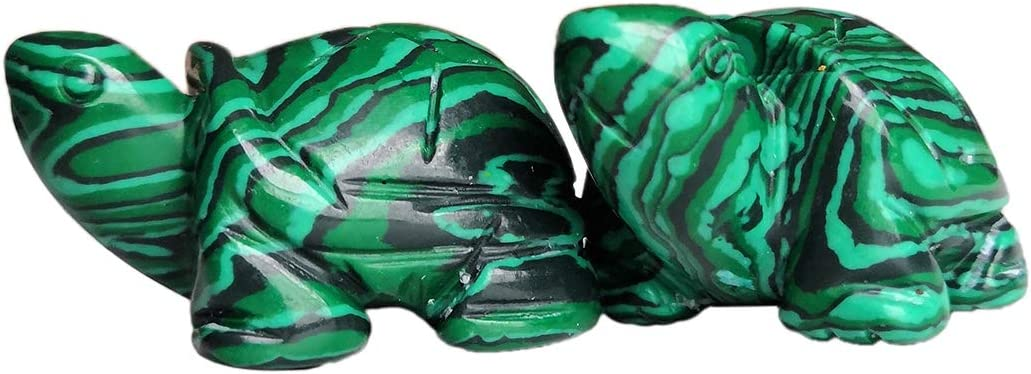 "1.5/"" Blue Turquoise Turtle Tortoise Carving Craft Healing Reiki Decor Gift"