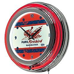 Trademark Gameroom Pure Oil Vintage Chrome Double Rung Neon Clock