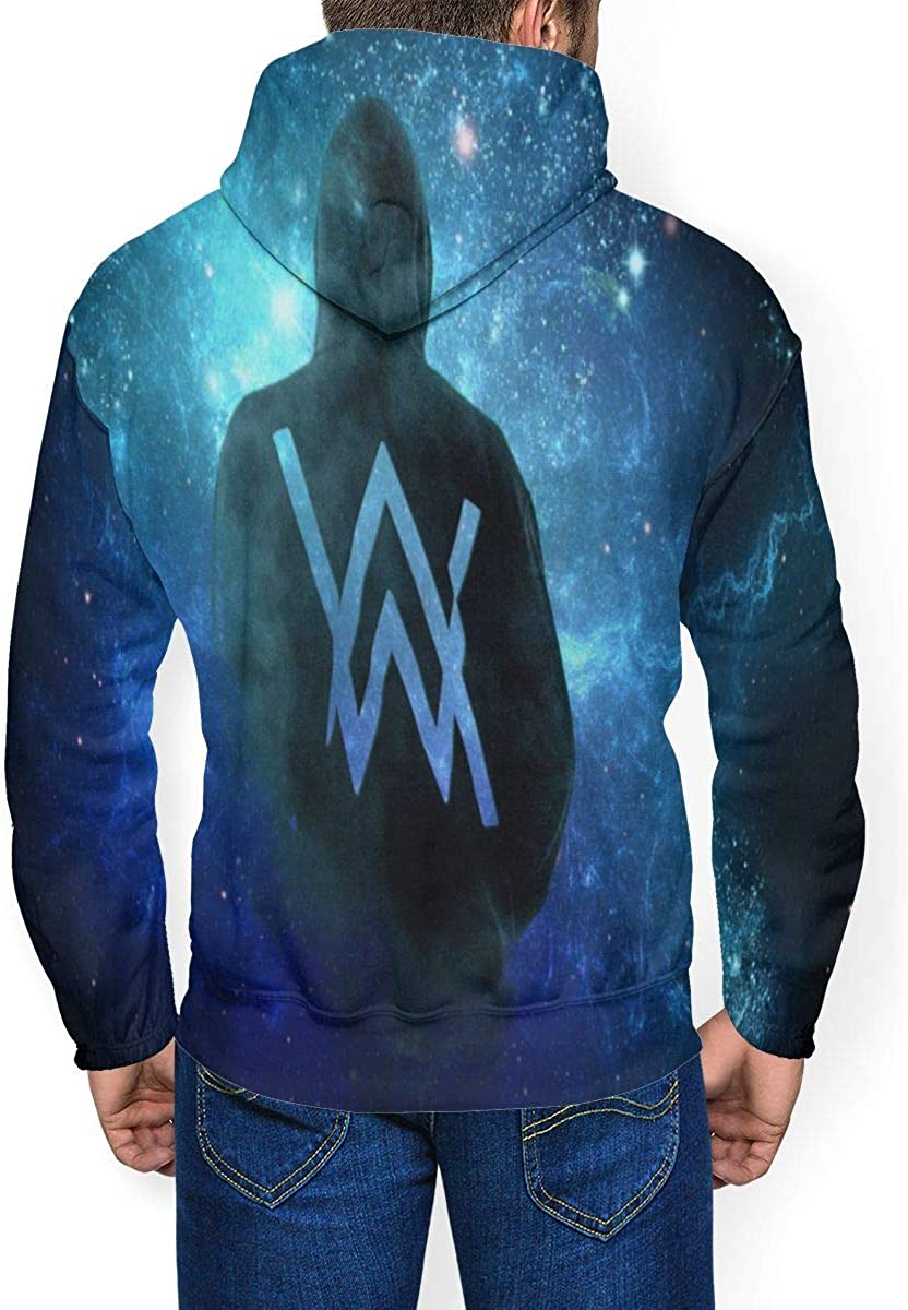 Alan Walker Mens Winter Jacket Clothes Plus Velvet Long Sleeve Hooded Sweat Shirt Pullover