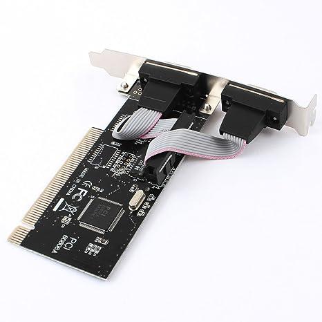Doble puerto serie RS232 DB9 macho a adaptador de tarjeta de ...