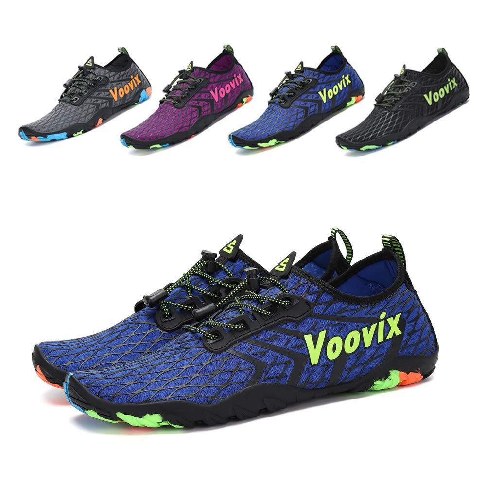 Leaproo Women Men Water Shoes Quick Dry Barefoot Sports Aqua Shoes for Swim Walking Yoga Beach Driving Boating blue43
