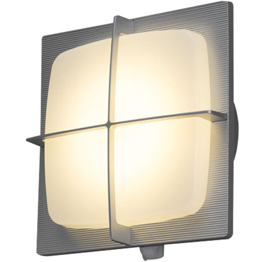 アイリスオーヤマ LEDポーチ灯 人感センサー付き シルバー 電気工事必要 IRBR5L-SQGRS-MSBS-P B06ZZQTLQC 16952