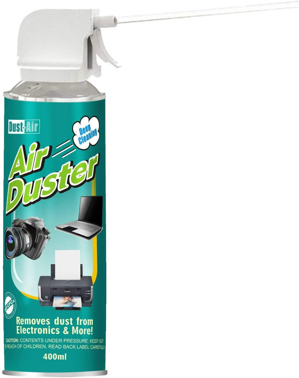 4 x Dust-Air 400ml Compressed Air Duster Can for Fans PC Laptop Camera CFC  Free 4X: Amazon.co.uk: Office Products