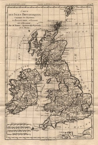 Carte des isles britanniques british isles bonne 1780 old quotcarte des isles britanniquesquot british isles bonne 1780 gumiabroncs Images