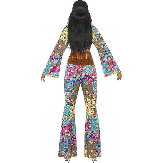 NET TOYS Traje Hippie de señora años 70 Disfraz Flower Power ...