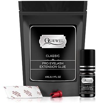SUPER FAST Eyelash Extension Glue Quewel Lash 5 ml/LOW Fume/0 5-1 Sec  Drying