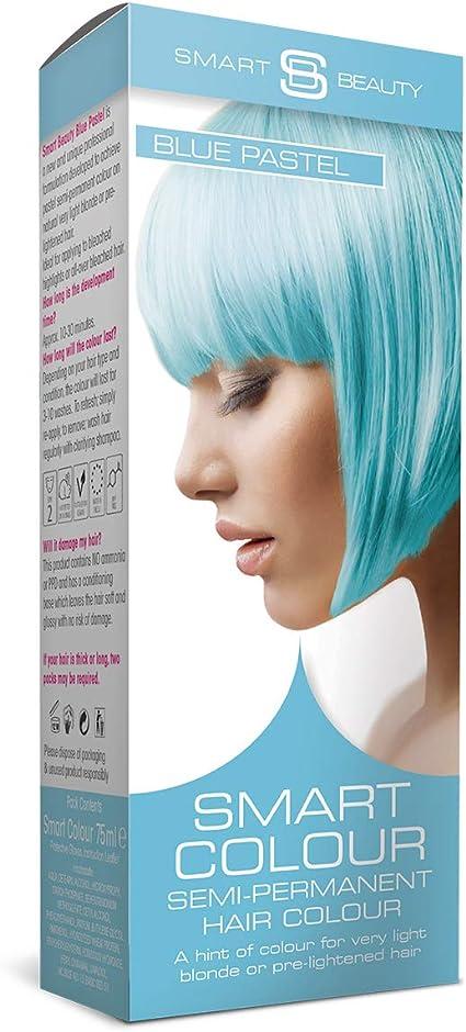 Tinte para el cabello azul pastel inteligente