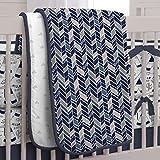 Carousel Designs Navy Fox Crib Comforter