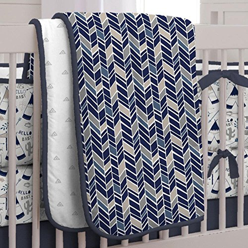 Carousel Designs Navy Fox Crib Comforter by Carousel Designs