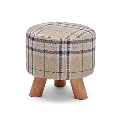 Cool Amazon Com Funlea Small Round Wood Footstool Child Washable Caraccident5 Cool Chair Designs And Ideas Caraccident5Info
