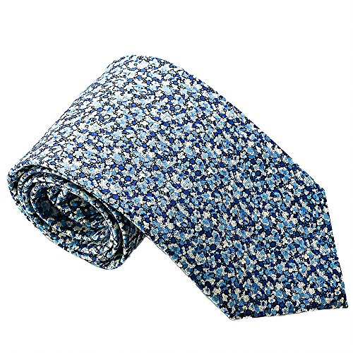 Luxury Neckties for Men: Liberty London Cotton Necktie, Classic Floral Print Tie