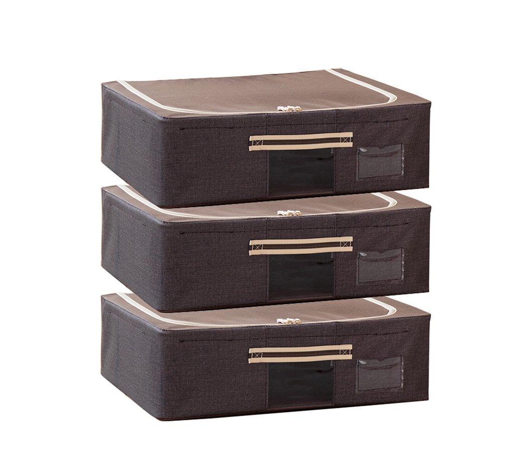 SCHUNlia ベッド底収納ボックス、フラット30リットルオックスフォード布組み合わせ収納ボックス可視化服収納袋、50 * 40 * 15センチ 環境に優しくて丈夫 (色 : C) B07SCPL54H C