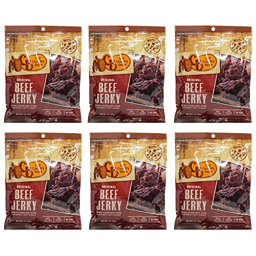 Cb Old Country Store Hickory Smoked Original Beef Jerky  No Msg  Thinly Sliced Beef Steak  6 Pack