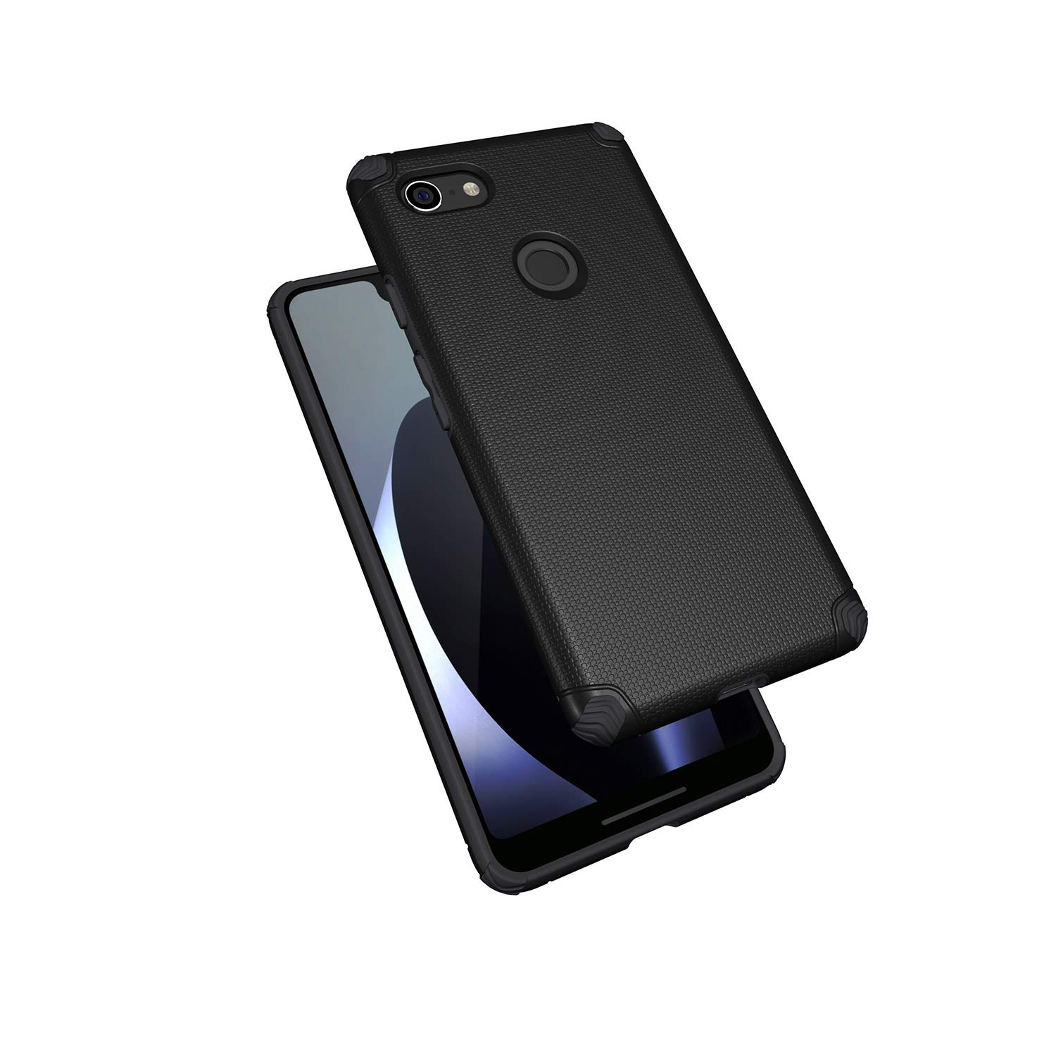 Black 4351512032 Car Holder Included Magnus Olixar Google Pixel 3 XL Tough Magnetic Case /& Car Holder Rugged Heavy Duty Case