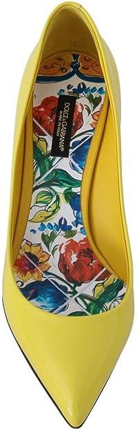 Dolce & Gabbana - Bombas de Piel, Color Amarillo: Amazon.es: Zapatos y complementos