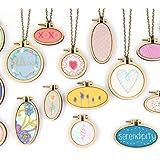 7セット ミニ 刺繍枠 刺繍フープ 木製 円形&楕円形 DIY工芸品 アクセサリーパーツ ネックレス用 可愛い 装飾 ギフト