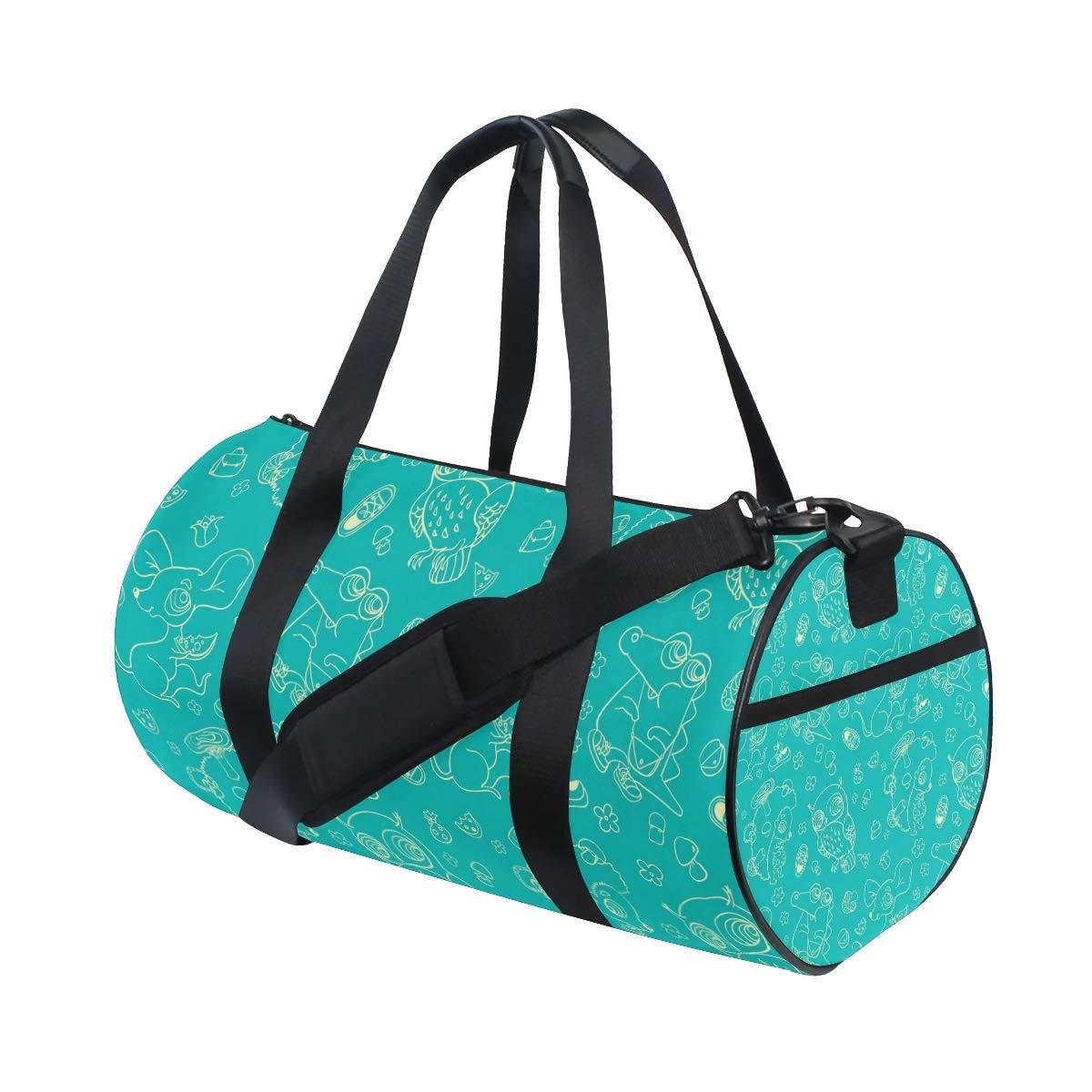 Unisex's Crocodile Duffel Bag Travel Tote Luggage Bag Gym Sports Luggage Bag
