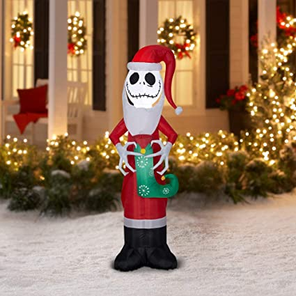 holiday time jack skellington nightmare before christmas inflatable 55 ft