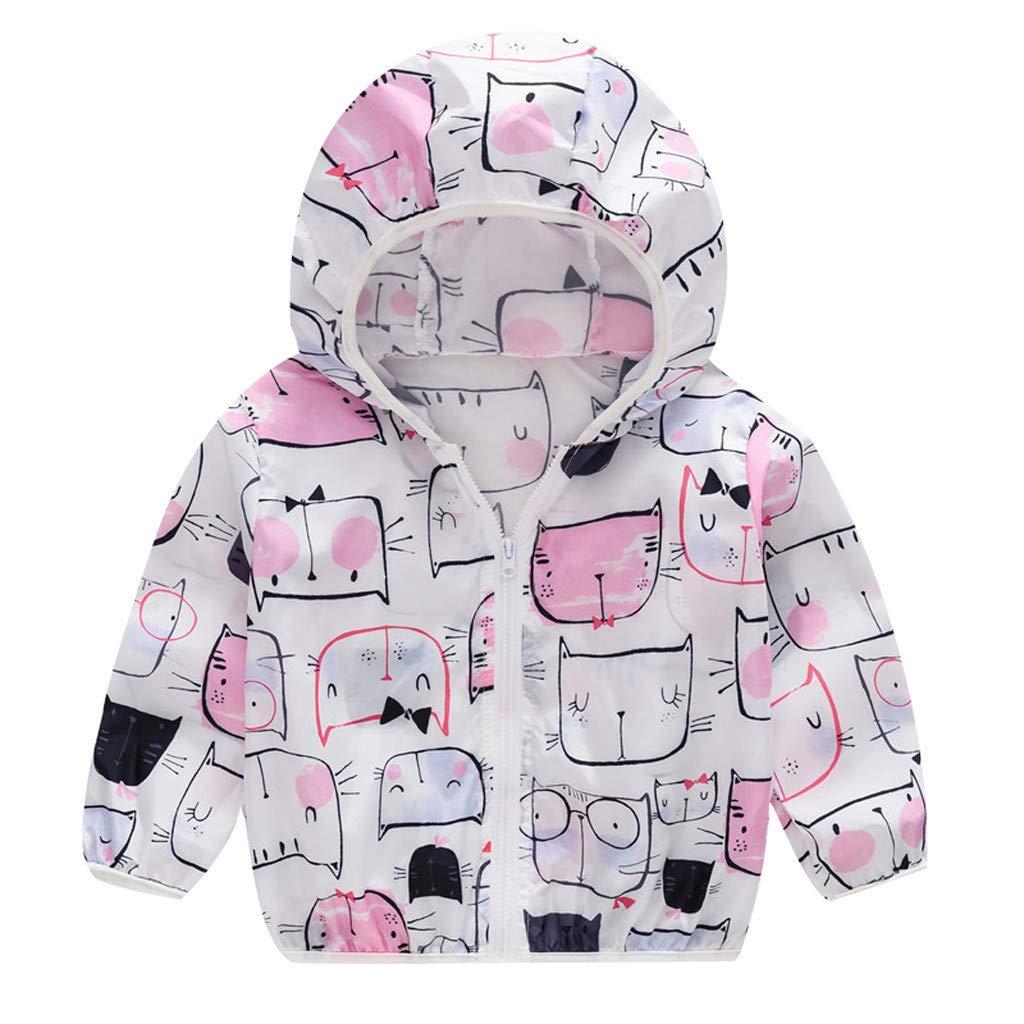 Kids Summer Sun Protection Thin Cotton Zipper Coats Jacket Hoodie Outwear Outdoor Sunscreen Windbreaker Lightweight Meisiqw