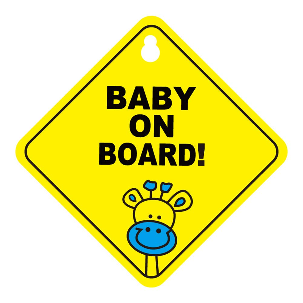 Ylinova Baby on Board Sign for Car Removable Car Decals Safety Caution Signs Double Sucker Sticker for Driver,No Fade D