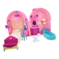 MagiDeal Plastic Trolley Suitcase Dollhouse Furniture Playset for 29cm Barbie Doll #1