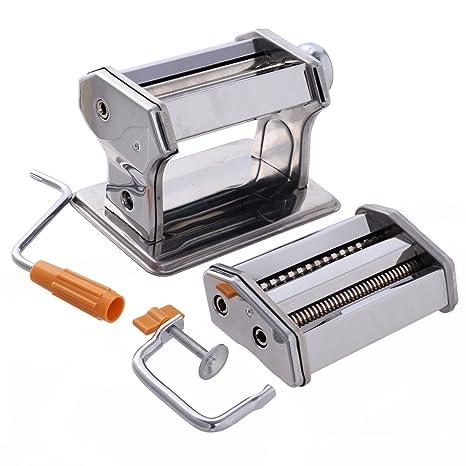 CHEFJOY Máquina Pastas pasta machine de acero inoxidable Verduras máquina del rodillo