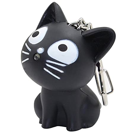 Amazon.com: LED Cute Kitty gato llavero con sonido y ...