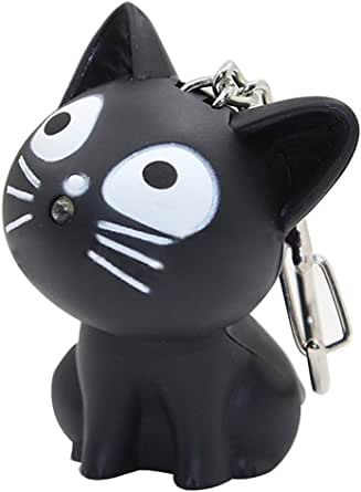 LED Cute Kitty Cat Keychain with Sound and Flashlight Lover Gift Child Toy