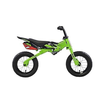 0f47812666c Kawasaki MX1 Running/Balance Bicycle, 12 Inch Wheels, Kid's Bike, Green